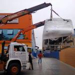 Transporte de máquinas em americana